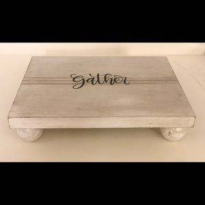 "Distressed Wood Riser Gather Homemade 8"" x 10"" x2"""